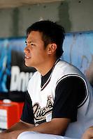Yung-Chi Chen  -  Sacramento RiverCats  .Photo by:  Bill Mitchell/Four Seam Images