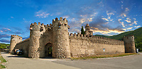 Pictures & images of the medieval the fortified gate house and fortified curtain wall of  Ninotsminda Cathedral, 575 AD, Sagarejo, in the Kakheti region, Georgia (country).<br /> <br /> Ninotsminda Cathedral is a highly important Georgian architectural building, which served as a model for the development of the later tetraconch, four-apse design of church.
