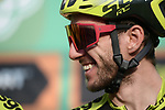 Adam Yates (GBR) Mitchelton-Scott at sign on before the 113th edition of Il Lombardia 2019 running 243km from Bergamo to Como, Italy. 12th Octobre 2019. <br /> Picture: Fabio Ferrari/LaPresse | Cyclefile<br /> <br /> All photos usage must carry mandatory copyright credit (© Cyclefile | LaPresse/Fabio Ferrari)