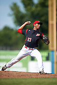 Batavia Muckdogs relief pitcher Victor Delgado (27) during a game against the Staten Island Yankees on August 28, 2016 at Dwyer Stadium in Batavia, New York.  Batavia defeated Staten Island 6-0. (Mike Janes/Four Seam Images)