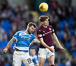 St Johnstone v Hearts 17.05.17     SPFL    McDiarmid Park<br />Rory Currie and Richie Foster<br />Picture by Graeme Hart.<br />Copyright Perthshire Picture Agency<br />Tel: 01738 623350  Mobile: 07990 594431