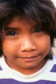 Altamira, Para State, Brazil. Portrait of an Asurini Indian boy.