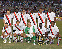 Starting eleven of Manchester City during an international friendly match against Inter Milan on July 31 2010 at M&T Bank Stadium in Baltimore, Maryland. Milan won 3-0.