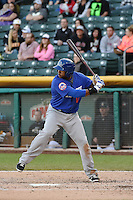 Brandon Allen (40) of the Las Vegas 51s at bat against the Salt Lake Bees at Smith's Ballpark on May 8, 2014 in Salt Lake City, Utah.  (Stephen Smith/Four Seam Images)