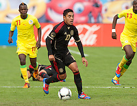 San Francisco, California - Saturday March 17, 2012: Marco Fabian in action during the Mexico vs Senegal U23 in final Olympic qualifying tuneup. Mexico defeated Senegal 2-1