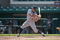 Detroit Tigers Kerry Carpenter (67) bats during a Florida Instructional League intrasquad game on October 24, 2020 at Joker Marchant Stadium in Lakeland, Florida.  (Mike Janes/Four Seam Images)