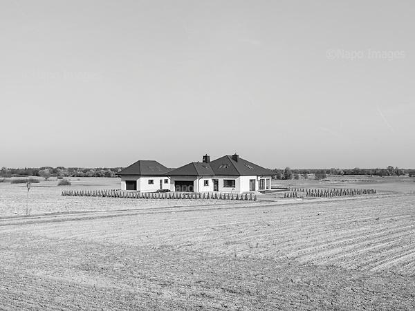 Dolhobrody 19.10.2019 Poland<br /> Newly bulided villa near the border with Belarus<br /> Photo: Adam Lach