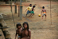 Emberá Dóvida  indigenous girs  plays in Choco department, in the Pacific coast of Colombia