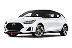 Stock pictures of low aggressive front three quarter view of a 2020 Hyundai Veloster Turbo Ultimate 5 Door Hatchback