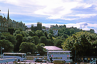 Edinburgh: Looking SW toward the Castle from New Town. Photo '87.