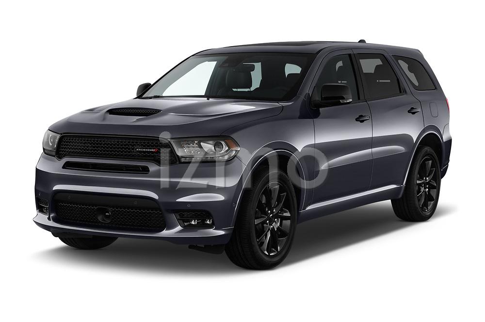 2018 Dodge Durango R/T 5 Door SUV angular front stock photos of front three quarter view