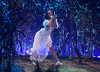 """HOLLYWOOD, CA - MAY 27: Doja Cat performs onstage at the 2021 """"iHeartRadio Music Awards"""" airing live from The Dolby Theatre in Los Angeles, Thursday, May 27 (8:00-10:00 PM ET live / PT tape-delayed) on FOX.  (Photo by Frank Micelotta/FOX/PictureGroup)"""