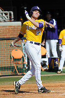 Beau Didier #27 of the LSU Tigers at Lindsey Nelson Stadium in game against Tennessee Volunteers in Knoxville, TN March 27, 2010 (Photo by Tony Farlow/Four Seam Images)