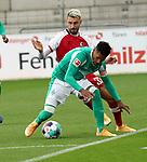 17.10.2020, Schwarzwald Stadion, Freiburg, GER, 1.FBL, SC Freiburg vs SV Werder Bremen<br /> <br /> im Bild / picture shows<br /> Theodor Gebre Selassie (Bremen), Vincenzo Grifo (Freiburg)<br /> <br /> Foto © nordphoto / Bratic<br /> <br /> DFL REGULATIONS PROHIBIT ANY USE OF PHOTOGRAPHS AS IMAGE SEQUENCES AND/OR QUASI-VIDEO.