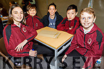 Moyderwell NS taking part in the Cara Credit Union School Quiz in the I T Tralee on Sunday. L to r: Saoirse O'Connor McCarthy, Oliver Zazai, Karen O'Connor (Teacher), Sean O'Neill and Adam Lunn.
