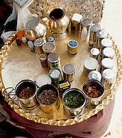 Indien, Bombay (Mumbai), Verkaufsstand für Betel-Nüsse
