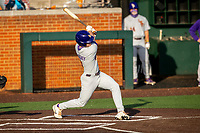 LSU Tigers third baseman Cade Doughty (4) at bat against the Tennessee Volunteers on Robert M. Lindsay Field at Lindsey Nelson Stadium on March 26, 2021, in Knoxville, Tennessee. (Danny Parker/Four Seam Images)