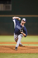 AZL Padres relief pitcher Korey Anderson (46) delivers a pitch to the plate against the AZL Indians on August 30, 2017 at Goodyear Ball Park in Goodyear, Arizona. AZL Padres defeated the AZL Indians 7-6. (Zachary Lucy/Four Seam Images)