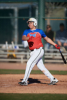 Kevin Sanchez during the Under Armour All-America Tournament powered by Baseball Factory on January 18, 2020 at Sloan Park in Mesa, Arizona.  (Mike Janes/Four Seam Images)