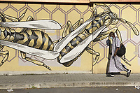 """Il QUADRARO-Quartiere di Roma<br /> Nido di Vespe"""" di Lucamaleonte (2014) – via Monte del Grano<br /> <br /> Museo di Urban Art di Roma - primo progetto di museo romano di street art completamente integrato nel tessuto sociale, un vero e proprio museo a cielo aperto, dove poter ammirare i lavori realizzati da importanti street artist italiani e stranieri.<br /> Urban Art Museum of Rome - Roman open-air street art museum project with works by Italian and foreign street artists."""