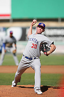 May 16, 2010: Murphy Smith of the Stockton Ports during game against the High Desert Mavericks at Mavericks Stadium in Adelanto,CA.  Photo by Larry Goren/Four Seam Images