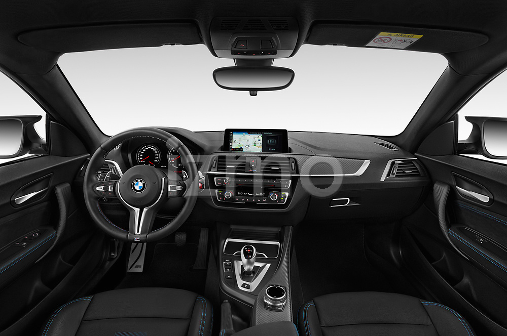 Stock photo of straight dashboard view of a 2020 BMW m2 competition Base 2 Door Coupe