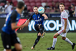 FC Internazionale Defender Danilo D'Ambrosio (C) looks to bring the ball down during the International Champions Cup match between FC Bayern and FC Internazionale at National Stadium on July 27, 2017 in Singapore. Photo by Marcio Rodrigo Machado / Power Sport Images