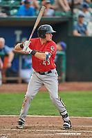 Bren Spillane (43) of the Billings Mustangs bats against the Ogden Raptors at Lindquist Field on August 17, 2018 in Ogden, Utah. Billings defeated Ogden 6-3. (Stephen Smith/Four Seam Images)
