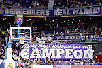 Real Madrid's supporters during Turkish Airlines Euroleague match between Real Madrid and Darussafaka Dogus at Wizink Center in Madrid, Spain. February 24, 2017. (ALTERPHOTOS/BorjaB.Hojas)
