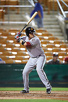 Salt River Rafters catcher Oscar Hernandez (25) at bat during an Arizona Fall League game against the Glendale Desert Dogs on October 21, 2015 at Camelback Ranch in Glendale, Arizona.  Glendale defeated Salt River 1-0.  (Mike Janes/Four Seam Images)