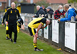 Dejected Hucknall Captain Aaron Short at full time. Hucknall Town v Heanor Town, 17th October 2020, at the Watnall Road Ground, East Midlands Counties League. Photo by Paul Thompson.
