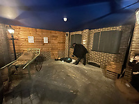BNPS.co.uk (01202) 558833. <br /> Pic: AuctionHouseLondon/BNPS<br /> <br /> Pictured: Exhibition room. <br /> <br /> Not for the faint-hearted...<br /> <br /> A Jack the Ripper Museum in the area where the serial killer carried out his murders is going up for auction for £685,000. <br /> <br /> Celebrity auctioneer Andrew Binstock from the BBC's Homes Under the Hammer is leading the auction of the six-storey building in London's Whitechapel.