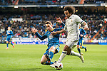 Marcelo Vieira Da Silva (r) of Real Madrid battles for the ball with Hugo Mallo Novegil of RC Celta de Vigo during their Copa del Rey 2016-17 Quarter-final match between Real Madrid and Celta de Vigo at the Santiago Bernabéu Stadium on 18 January 2017 in Madrid, Spain. Photo by Diego Gonzalez Souto / Power Sport Images