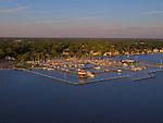 Cambridge, MD municipal marina on the Choptank River.