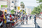 Alpecin Fenix arrive at sign on before the start of Stage 7 of La Vuelta d'Espana 2021, running 152km from Gandia to Balcon de Alicante, Spain. 20th August 2021.     <br /> Picture: Unipublic/Charly Lopez | Cyclefile<br /> <br /> All photos usage must carry mandatory copyright credit (© Cyclefile | Charly Lopez/Unipublic)