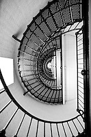Looking up the winding staircase to St. Augustine's famous lighthouse.