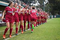 STANFORD, CA - September 3, 2017: Tierna Davidson at Cagan Stadium. Stanford defeated Navy 7-0.