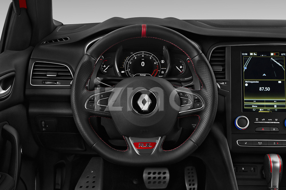 Car pictures of steering wheel view of a 2018 Renault Megane R.S. base 5 Door Hatchback
