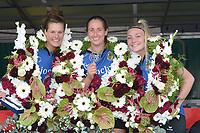 KAATSEN: WEIDUM: 21-08-2019, Dames PC, Manon Scheepstra, Ilse Tuinenga (koningin), Sjanet Wijnia, ©foto Martin de Jong