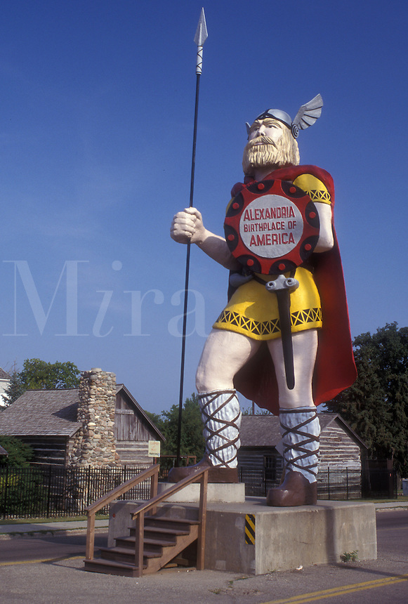 "AJ0472, Minnesota, """"Alex"""" the Viking Statue stands tall in the town of Alexandria."
