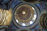 Interior of the dome in the church of Sant Agnese in Agone on the Piazza Navona in the Parione district of Rome.The fresco portraying the Assumtion was begun in 1670 by Ciro Ferri unfinished on his death in 1689 it was completed by Sebastiano Corbellini.