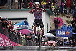 Ruben Guerreiro (POR) EF Pro Cycling wins solo Stage 9 of the 103rd edition of the Giro d'Italia 2020 running 208km from San Salvo to Roccaraso (Aremogna), Sicily, Italy. 11th October 2020.  <br /> Picture: LaPresse/Gian Mattia D'Alberto   Cyclefile<br /> <br /> All photos usage must carry mandatory copyright credit (© Cyclefile   LaPresse/Gian Mattia D'Alberto)