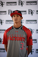 Steven Ondina (3) of International Baseball Academy HS in Gurabo, Puerto Rico during the Baseball Factory All-America Pre-Season Tournament, powered by Under Armour, on January 12, 2018 at Sloan Park Complex in Mesa, Arizona.  (Zachary Lucy/Four Seam Images)