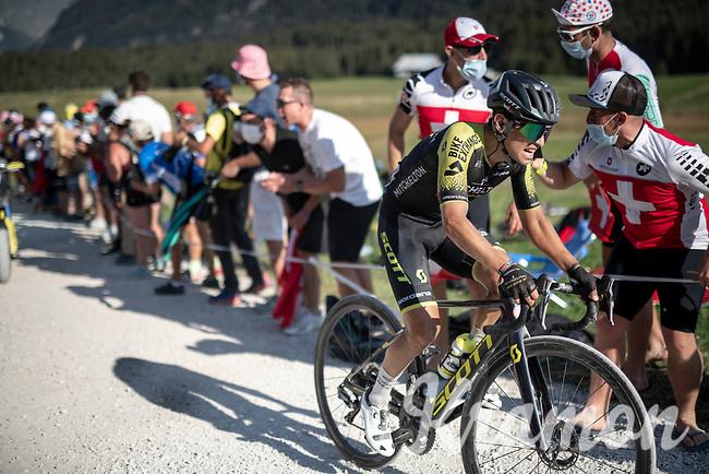 Esteban Chaves (COL/Mitchelton-Scott) at the gravel section atop the Montée du plateau des Glières (HC/1390m)<br /> <br /> Stage 18 from Méribel to La Roche-sur-Foron (175km)<br /> <br /> 107th Tour de France 2020 (2.UWT)<br /> (the 'postponed edition' held in september)<br /> <br /> ©kramon