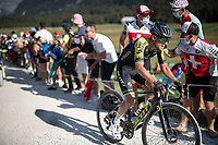 Esteban Chaves (COL/Mitchelton-Scott) at the gravel section atop the Montée du plateau des Glières (HC/1390m)<br /> <br /> Stage 18 from Méribel to La Roche-sur-Foron (175km)<br /> <br /> 107th Tour de France 2020 (2.UWT)<br /> (the 'postponed edition' held in september)<br /> <br /> ©kramon