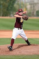 Mitchell Lambson, Arizona State Sun Devils - Annual Alumni game at Packard Stadium, Tempe, AZ - 02/06/2010..Photo by:  Bill Mitchell/Four Seam Images.
