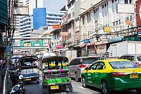 Bangkok, Thailand.  Chakphet Road Street Scene in Pahurat, the Indian District.