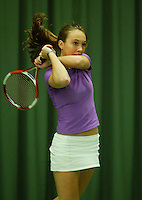 10-3-06, Netherlands, tennis, Rotterdam, National indoor junior tennis championchips, Eva Sloff