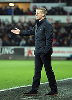 SWANSEA, WALES - MARCH 16: Swansea manager Garry Monk<br /> Re: Premier League match between Swansea City and Liverpool at the Liberty Stadium on March 16, 2015 in Swansea, Wales