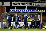 Dundee v St Johnstone…22.09.21  Dens Park.    Premier Sports Cup<br />Saints manager Callum Davidson tries to calm his side down<br />Picture by Graeme Hart.<br />Copyright Perthshire Picture Agency<br />Tel: 01738 623350  Mobile: 07990 594431